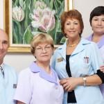 Врачи родильного отделения в клинике Элите – слева направо: доктор Андрей Сырица, доктор Рээт Кюютс, доктор Криста Ситска и доктор Светлана Ряйм