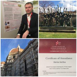 Денис Сырица на международном конгрессе 2018 года по гинекологии и эндокринологии (ISGE)